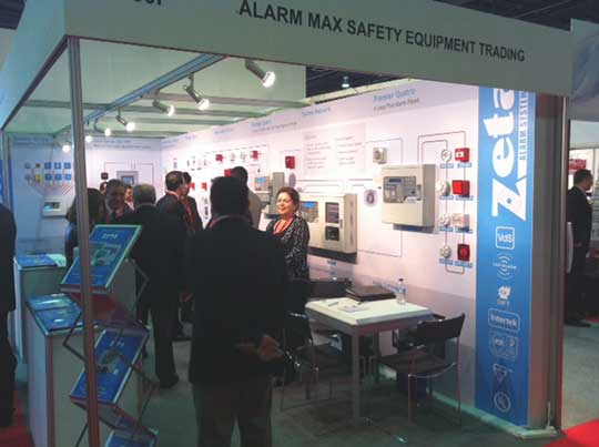 Zeta Alarm Systems stand at Intersec 2013