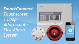 SmartConnect Touchscreen 1 Loop Addressable Fire Alarm System